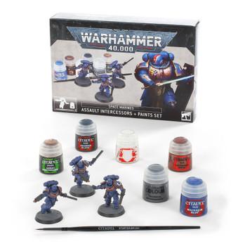 60-11 SM Assault Intercessors + Paint Set