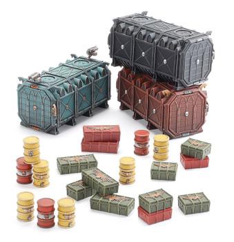 64-98 Battlezone Manufactorum:  Munitorum Armoured Containers