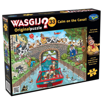Wasgij? #33 Original Puzzle 1000pc - Calm on the Canal!