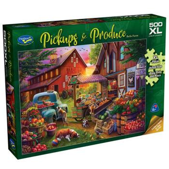Pickups & Produce 500pc XL Puzzle - Bells Farm