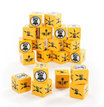 86-88 WH 40K: Imperial Fists Dice 2020