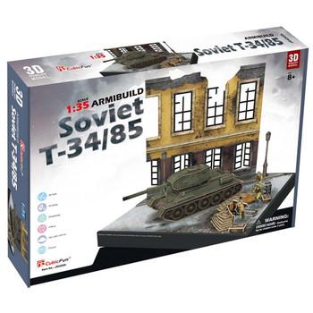 3D PUZZLE - SOVIET T34/85 ARMIBUILD MILITARY