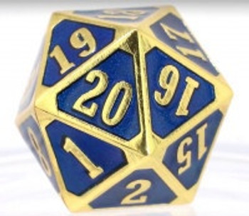Die Hard Dice Metal MTG Roll Down Counter - Shiny Gold Sapphire (Single)