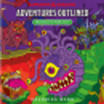 D&D Adventures Outlined Colouring Book