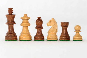 65mm King Babul/Boxwood Chess Set pieces