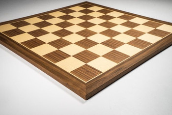 Walnut and Maple Standard Chess Board 35mm Squares