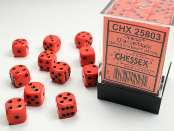 Chessex Opaque 12mm 36x D6 Dice Sets