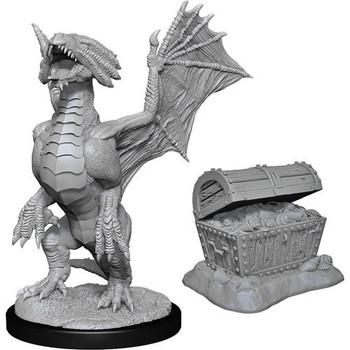 Bronze Dragon Wyrmling & Pile of Sea found Treasure W13