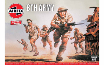 WWII British 8th Army Figures: 1:76 Scale Model Kit