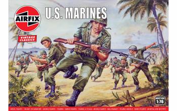 WWII US Marines Figures: 1:76 Scale Model Kit