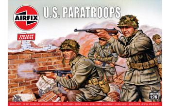 WWII US Paratroopers Figures: 1:76 Scale Model Kit