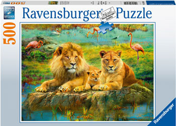 Family of Lions 500 Pieces