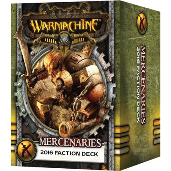 Warmachine - Mercenaries Faction Card Deck - 2016