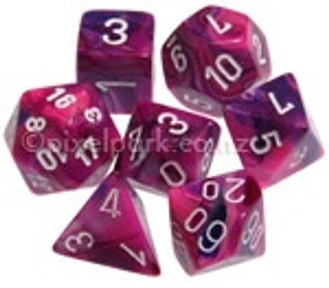 Polyhedral Dice Set Festive Violet-White