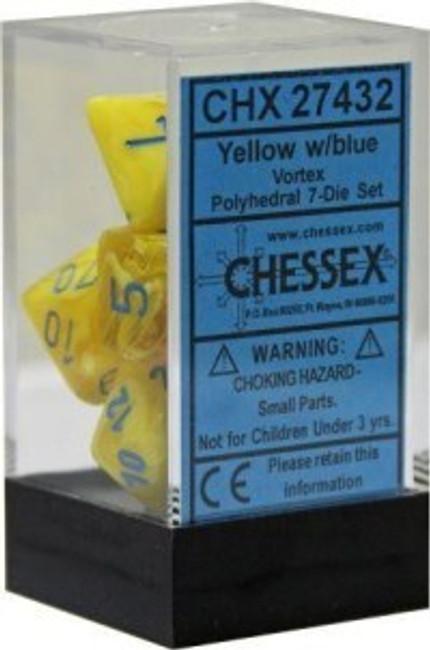 Dice Vortex Polyhedral Yellow/Blue