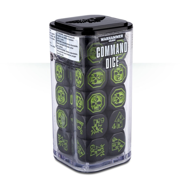 40-44 WH 40K Command Dice
