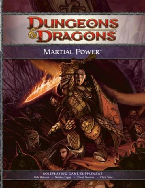 Martial Power: A 4th Edition D&D Supplement (Dungeons & Dragons, 4th Edition)