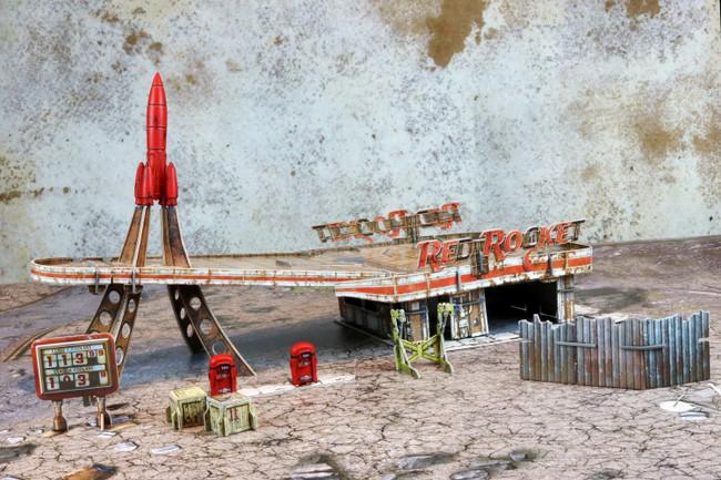 Fallout Wasteland Warfare Red Rocket Scenic Set