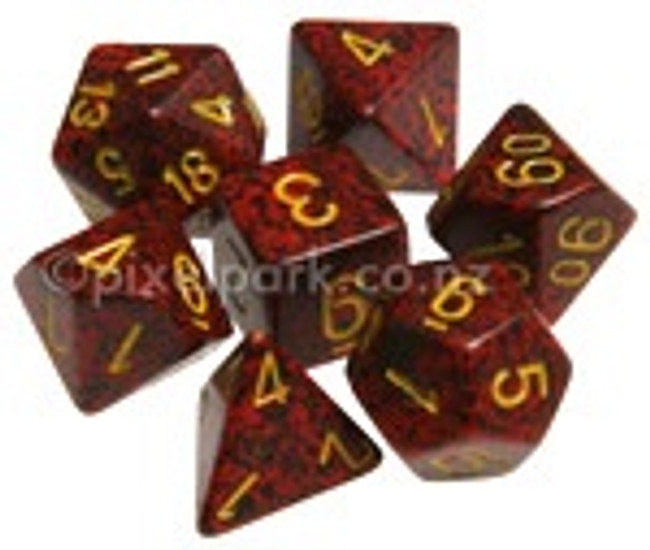 Speckled Polyhedral Dice Set Mercury