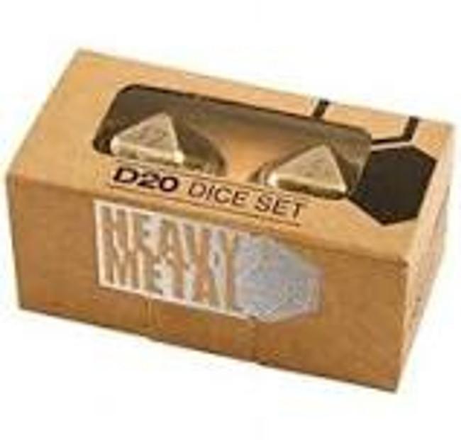 Ultra Pro Dice: Heavy Metal - D20 (2 Dice Set)