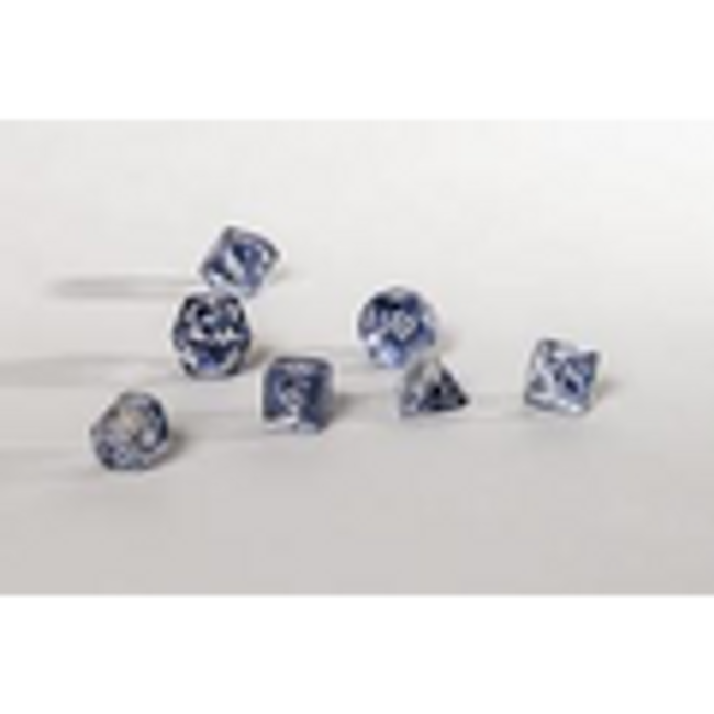 Nebula Black/White Polyhedral 7-Die Set