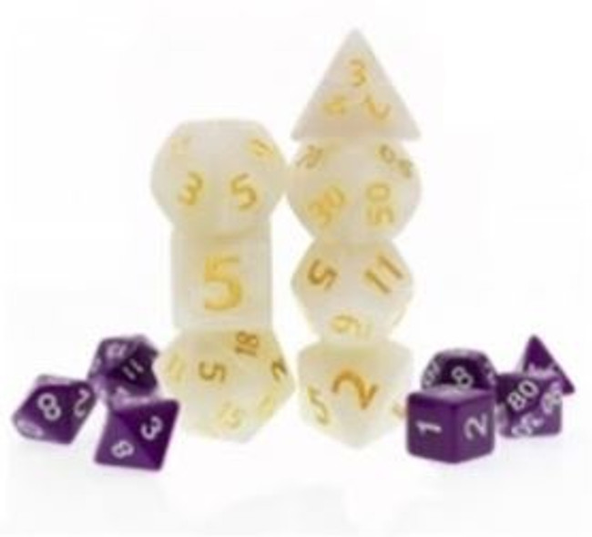 Giant Marbled Ivory 7pc Dice Set