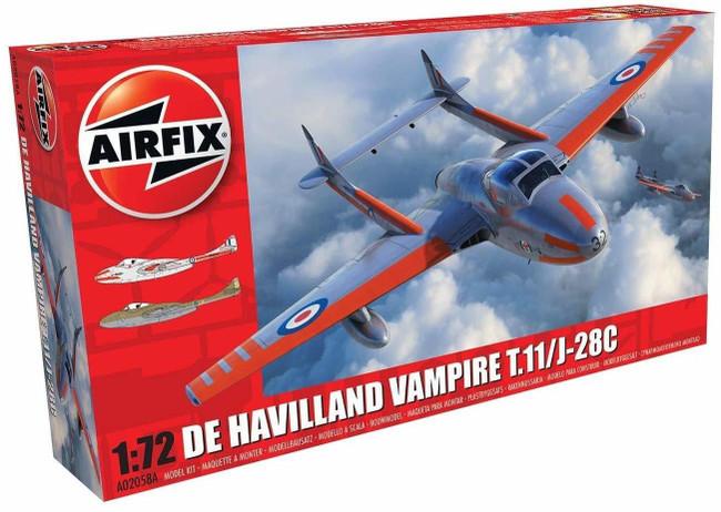 De Havilland Vampire T.11/J-28C 1:72 Scale Model Kit
