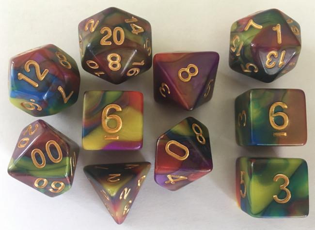 Magician's Morph 10pc Dice Set