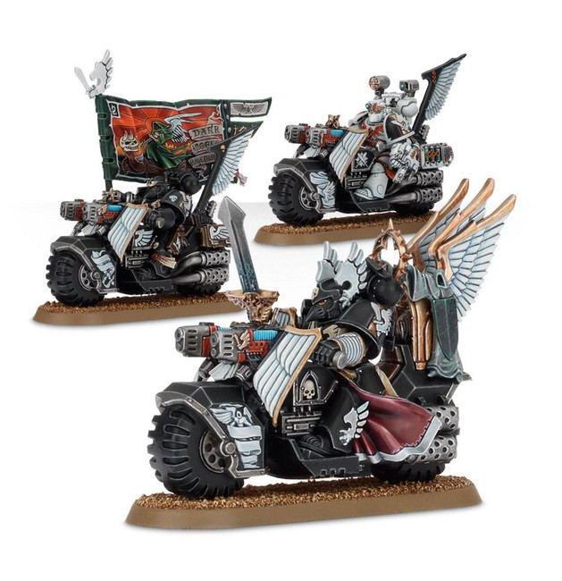 44-11 Dark Angels Ravenwing Command Squad 2017