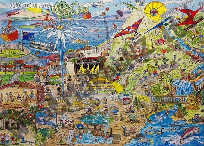 Rotorua Radiant 1000pc Puzzle