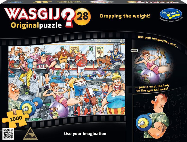 Wasgij? #28 Original Puzzle 1000pc - Dropping the Weight!