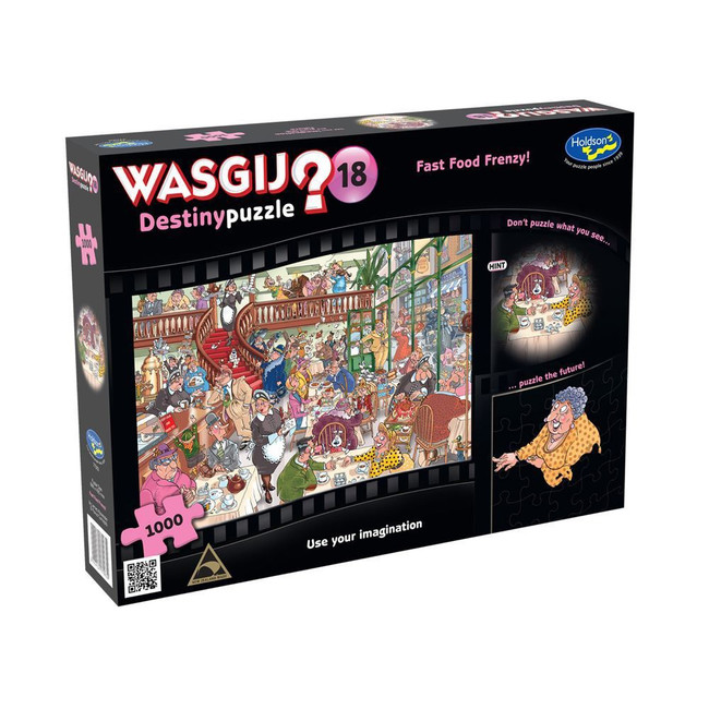 Wasgij? #18 Destiny Puzzle 1000pc - Fast Food Frenzy