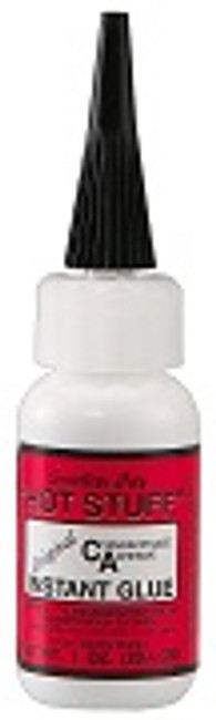 HS-7 Hot Stuff 1oz thin CA glue RED