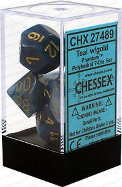 Dice Phantom Polyhedral Teal/Gold