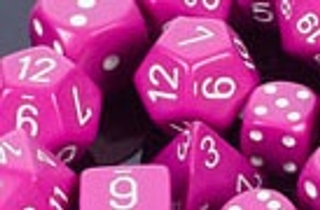 Opaque Polyhedral Dice Set Light Purple-White