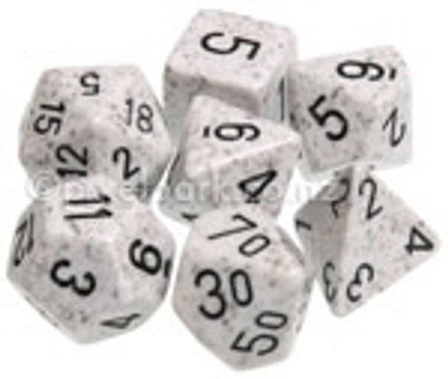 Speckled Polyhedral Dice Set Arctic Camo
