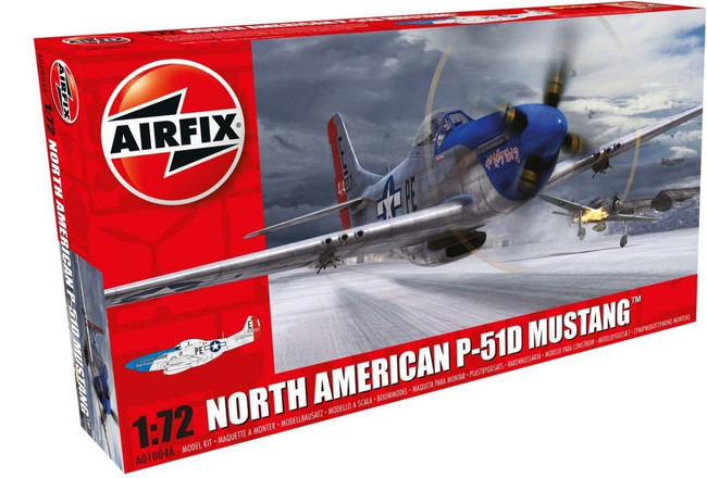 North American P-51D Mustang 1:72 Scale Model Kit