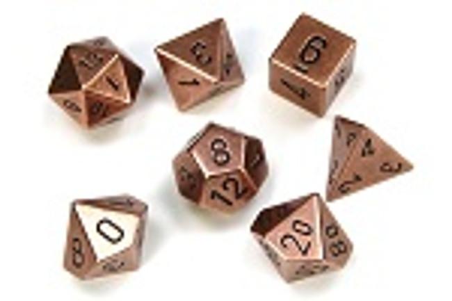 Metal (Copper) Dice Set