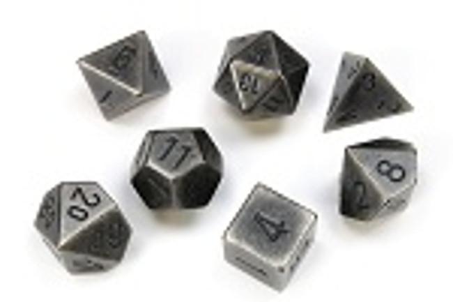 Metal (Silver) Dice Set