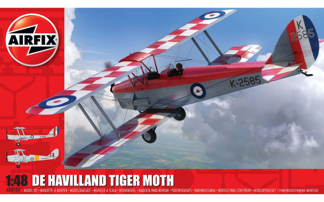 De Havilland DH.82a Tiger moth 1:48 Scale Model Kit