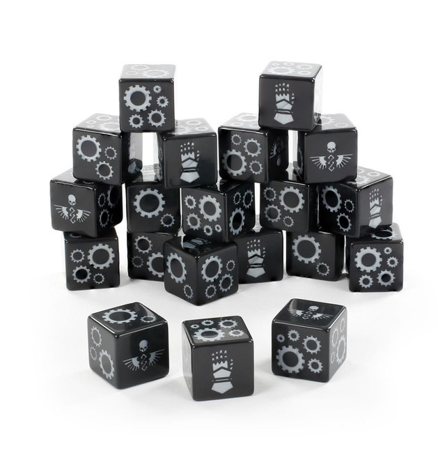 86-85 WH 40K: Iron Hands Dice 2020