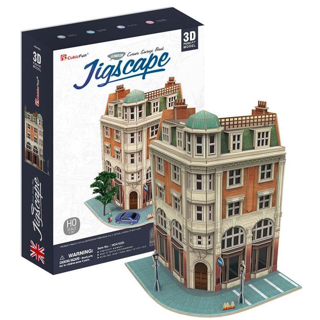 3D PUZZLE - CORNER SAVINGS BANK JIGSCAPE