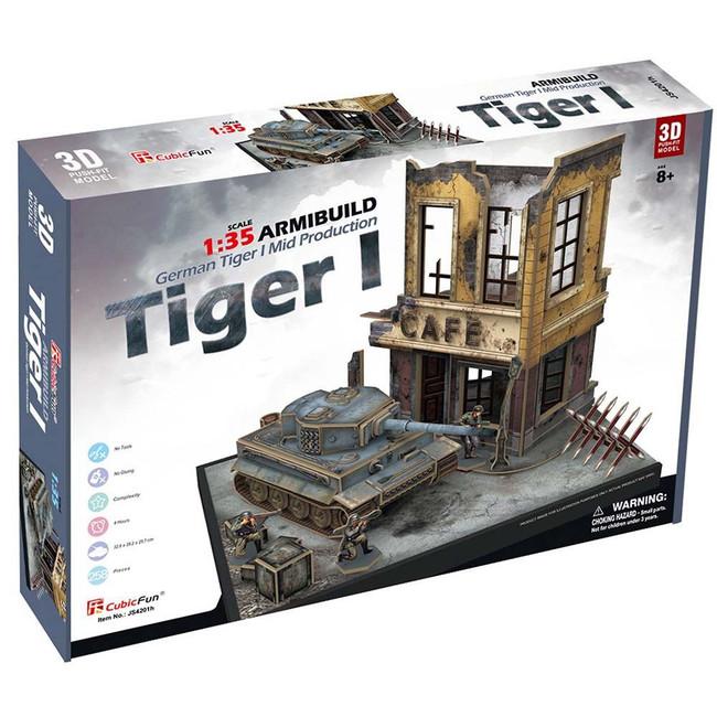 3D PUZZLE - GERMAN TIGER 1 ARMIBUILD MILITARY