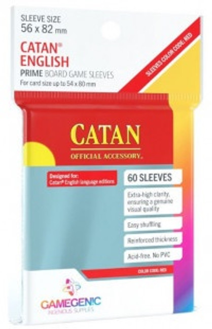 GameGen!c Board Game Sleeves: Catan - Red