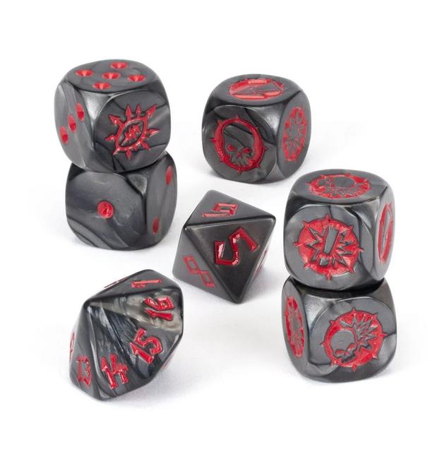 200-35 Blood Bowl: Chaos Chosen Team Dice Set