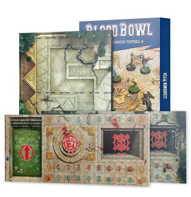 200-79 Blood Bowl: Lizardmen Team Pitch & Dugout 2021