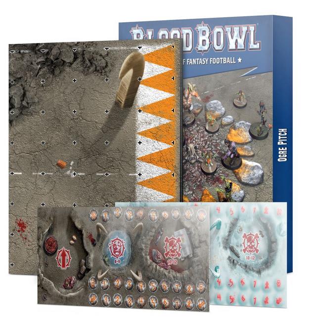 200-82 Blood Bowl: Ogre Team Pitch & Dugout 2021