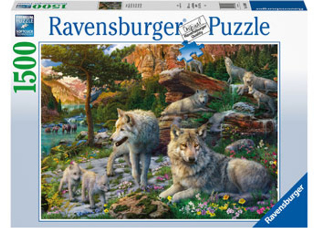 Wolves In Spring Puzzle 1500pc