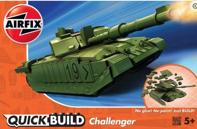 Airfix Quick Build: Challenger Tank - Green