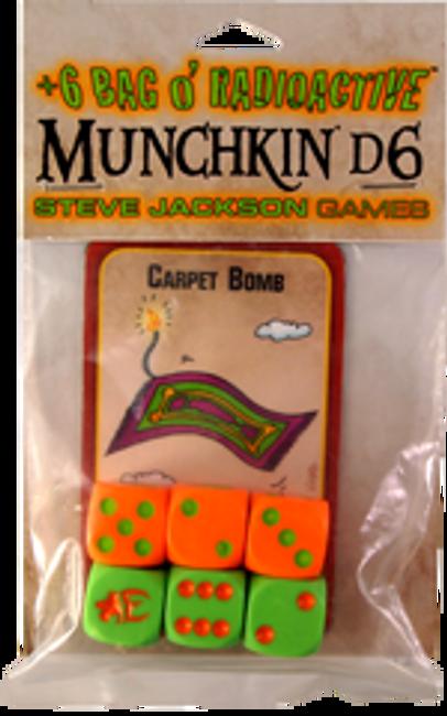 +6 Bag o' Radioactive Munchkin D6